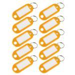 HMF 19010-17 Schlüsselanhänger mit Schlüsselring, Kunststoff, 5 x 2, 2 x 0, 26 cm, 10 Stück, gelb