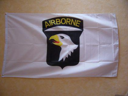 Flagge Fahne USA AIRBORNE 101 WEISS 150 x 90 cm - Vorschau
