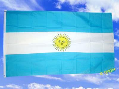 Flagge Fahne ARGENTINIEN MIT SONNE 150 x 90 cm - Vorschau
