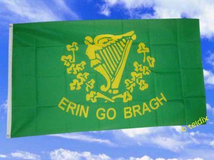 Flagge Fahne ERIN GO BRAGH IRLAND 150 x 90 cm