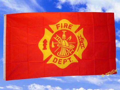 Flagge Fahne FIRE DEPARTEMENT 150 x 90 cm - Vorschau