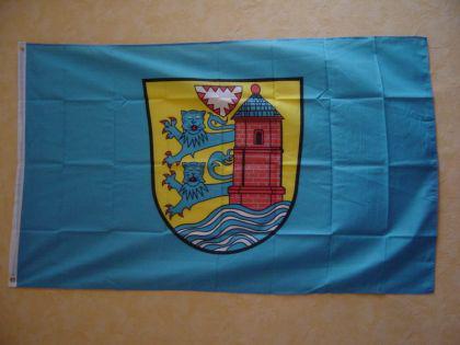Flagge Fahne FLENSBURG MIT WAPPEN 150 x 90 cm