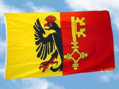 Flagge Fahne GENF 150 x 90 cm - Vorschau