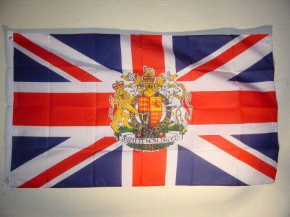 Flagge Fahne GROSSBRITANNIEN MIT WAPPEN 150 x 90