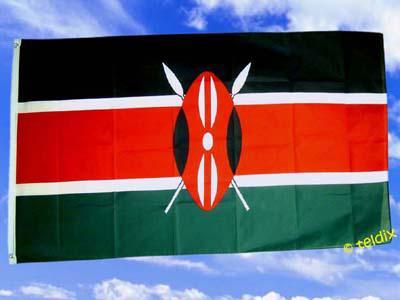 Flagge Fahne KENIA 150 x 90 cm - Vorschau