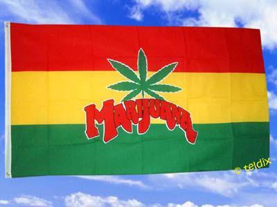Flagge Fahne MARIHUANA 150 x 90 cm - Vorschau
