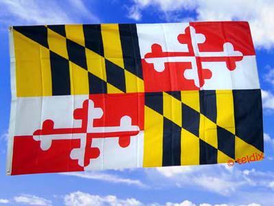 Flagge Fahne MARYLAND 150 x 90 cm - Vorschau