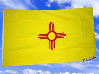 Flagge Fahne NEW MEXICO 150 x 90 cm