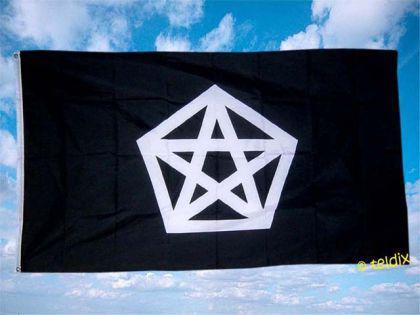 Flagge Fahne PENTAGRAMM 150 x 90 cm