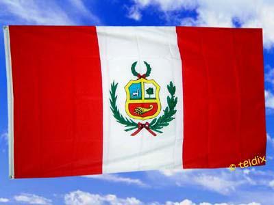 Flagge Fahne PERU 150 x 90 cm - Vorschau