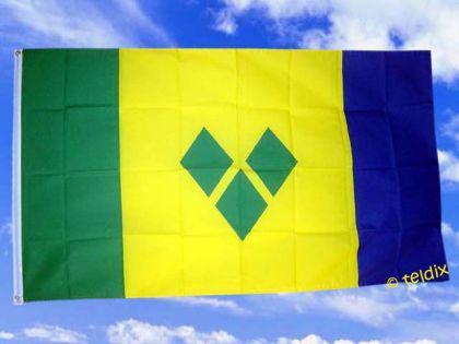 Flagge Fahne ST. VINCENT 150 x 90 cm - Vorschau
