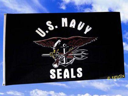 Flagge Fahne US NAVY SEALS 150 x 90 cm - Vorschau