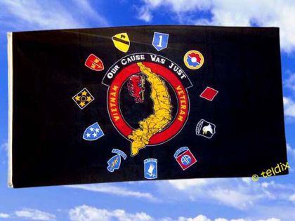 Flagge Fahne US VIETNAM VETERAN 150 x 90 cm - Vorschau