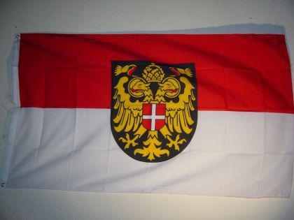 Flagge Fahne WIEN MIT WAPPEN 150 x 90 cm - Vorschau