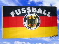 Flagge Fahne DEUTSCHLAND MIT FUSSBALL 150 x 90 cm