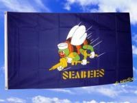 Flagge Fahne SEABEES Seebiene 150 x 90 cm