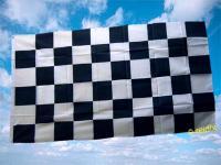 Flagge Fahne ZIELFLAGGE SCHWARZ WEISS 150 x 90 cm