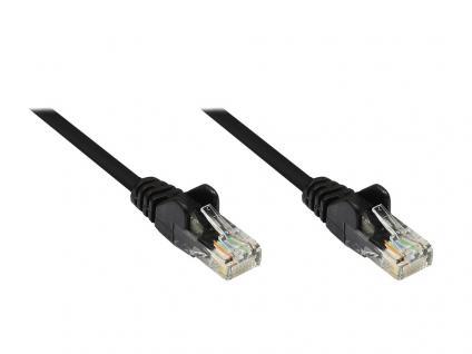 Patchkabel, Cat. 5e, U/UTP, schwarz, 0, 25m, Good Connections®