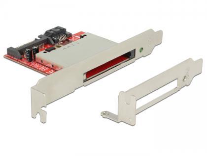 Card Reader CFast an SATA 7 + 15 Pin Low Profile Form Faktor, Delock® [91495]