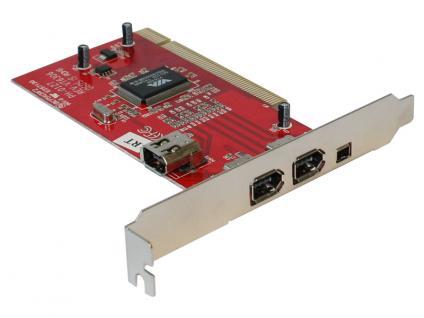FireWire 1394a PCI Karte 3+1 mit Kabel