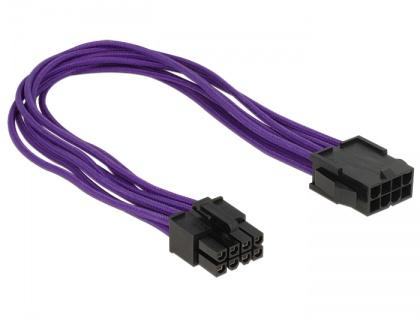Verlängerungskabel Stromversorgung 8 Pin EPS Stecker an 8 Pin EPS Buchse Textilummantelung violett, Delock® [83702]