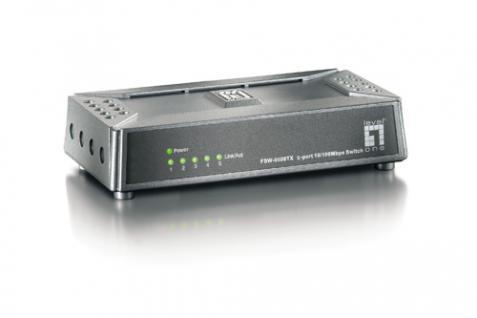 LevelOne® FSW-0508TX Switch 10/100Mbps 5port