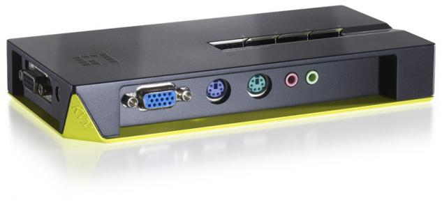 LevelOne® 4-Port PS/2 KVM-Switch mit Audio, KVM-0411