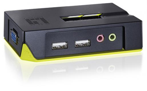 LevelOne® 2-Port USB KVM-Switch mit Audio, KVM-0221