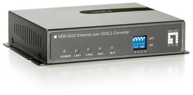 LevelOne® VDS-0202 VDSL Ethernet Konverter BNC