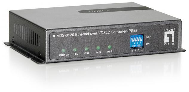 LevelOne® VDS-0120 Ethernet over VDSL2 PSE Konverter