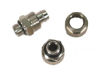 Verschraubung für Wasserkühlungen 1/4' O-Ring auf 8mm gerade