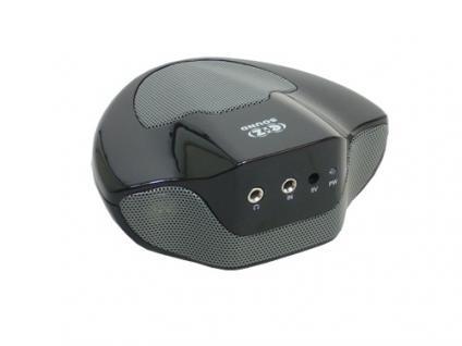 Titan® tragbarer 2.1 Stereosound Lautsprecher, PT-104, schwarz
