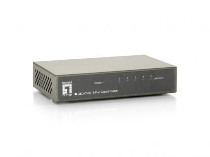 Level One® GEU-0520 5 Port 10/100/1000Mbps Gigabit Switch [GEU-0520]