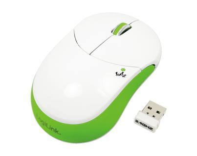 LogiLink® Maus optisch Funk, Smile, 2.4 GHz, 1000dpi, grün [ID0074]