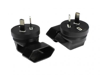 kabelmeister® Stromadapter, Australien 2 pin Stecker auf Euro 2 pin Buchse (90° gewinkelt)