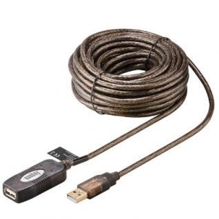 kabelmeister® Verlängerungskabel, USB 2.0, Stecker A an Buchse A, 10m, aktiv
