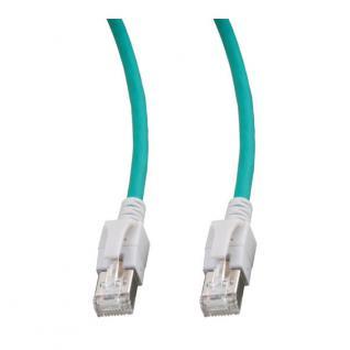 kabelmeister® Patchkabel, Cat. 6A, S/FTP, PiMF, halogenfrei, mit leuchtenden Steckern, grün, 10m
