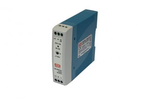 Single Output Industrial DIN Rail Power Supply, 20W, Output: 24V/20W/1A, Input: 85 ~ 264VAC, 0.35A