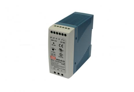 Single Output Industrial DIN Rail Power Supply, 40W, Output: 24V/40W/1.7A, Input: 85 ~ 264VAC, 0.7A