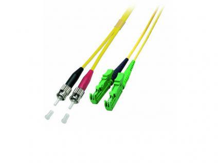 kabelmeister® Patchkabel LWL Duplex OS2 (Singlemode, 9/125) E2000®-APC/ST, 0, 5m