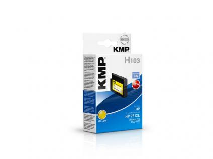 KMP Tintenpatrone ersetzt HP 951XL, für HP OfficeJet Pro 276 dw, gelb