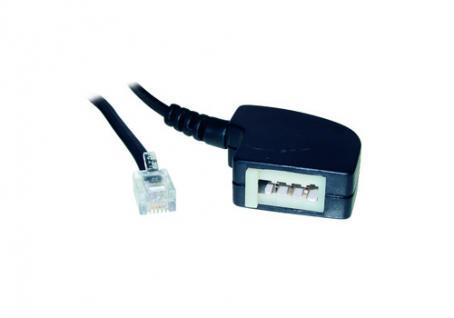 kabelmeister® Telefon-Adapter F Buchse / 6p4c Stecker Länge: 20cm