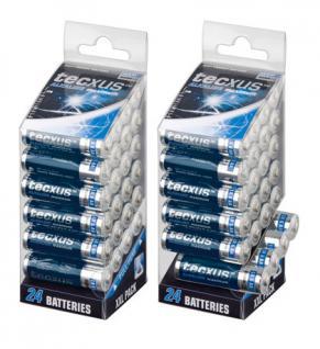 Batterie (High Energy) Alkali Mignon LR 6 , AA, 1, 5V, 24er XXL-Pack, Tecxus® [23818]