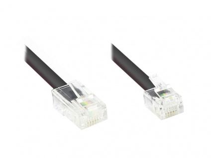 Modularkabel RJ45 Stecker an RJ12 Stecker, 10m, Good Connections®