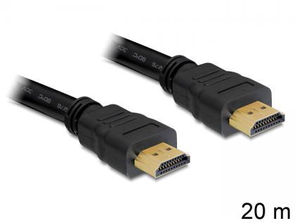 Kabel High Speed HDMI mit Ethernet - HDMI A Stecker an HDMI A Stecker 20m, Delock® [83452]