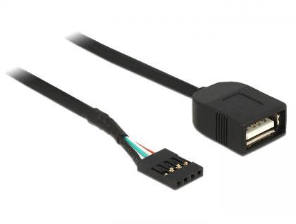 USB Kabel Pin Header Buchse an USB 2.0 Typ-A Buchse 40 cm, Delock® [83825]