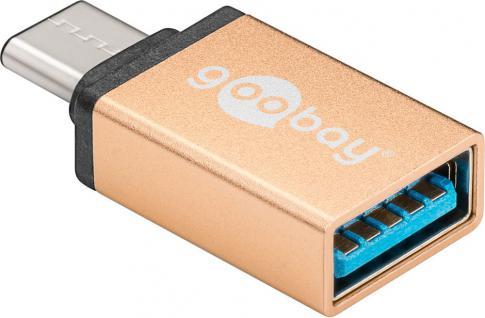 Adapter USB 3.0, USB-C-Stecker an USB 3.0 Buchse A, gold