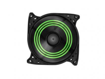 Gehäuselüfter SHARK Blades, 3-Pin-/5, 25'-Anschluss, 120x120x25, grün, Sharkoon®