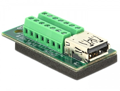 Adapter USB 3.0 / 3.1 PD A Buchse an Terminalblock 14 Pin, Delock® [65562]