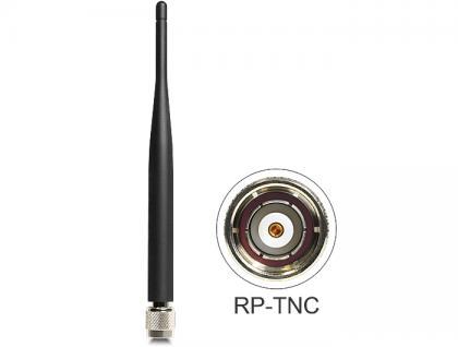 Antenne, WLAN, RP-TNC 802.11 a/b/g/n 2 dBi, omnidirektional starr, schwarz, Delock® [88462]